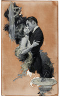 Mainstream Illustration, RALPH PALLEN COLEMAN (American, 1892-1968). A Passionate Kiss,story illustration, 1922. Oil on board. 25 x 15 in.. Sign...