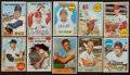 Baseball Cards:Lots, 1950's-60's Topps Hall of Famers Collection (11) With '68 Mantle....