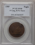 Colonials, 1787 1C Fugio Cent, STATES UNITED, Eight-Pointed Stars XF40 PCGS. Newman 15-Y, W-6915, R.2....