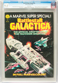 Magazines:Science-Fiction, Marvel Comics Super Special #8 Battlestar Galactica (Marvel, 1978)CGC NM- 9.2 White pages....
