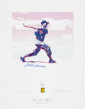 Baseball Collectibles:Others, Ted Williams Signed Carlo Beninati Serigraph. ...