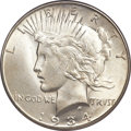 Peace Dollars, 1934-S $1 MS65 PCGS. CAC....