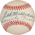 Baseball Collectibles:Balls, Ted Williams and Claude Passeau Multi Signed Baseball....