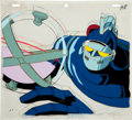 Animation Art:Limited Edition Cel, New Tetsujin 28 (Gigantor) Animation Production Cel withClean-Up Drawing Original Art (TMS, 1980-81)....