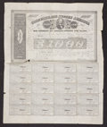 Confederate Notes:Group Lots, Ball 280 Cr. 138 $1000 1863 Bond Very Good. . ...