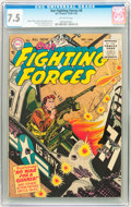 Golden Age (1938-1955):War, Our Fighting Forces #8 (DC, 1955) CGC VF- 7.5 Off-white pages....