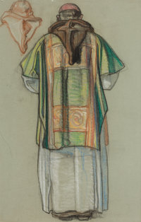 DEAN CORNWELL (American, 1892-1960) Study of a Monk Pastel on paper 24 x 15.5 in. Not signed