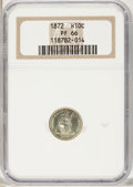 Proof Seated Half Dimes, 1872 H10C PR66 NGC....