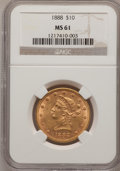 Liberty Eagles: , 1888 $10 MS61 NGC. NGC Census: (111/42). PCGS Population (33/35). Mintage: 132,996. Numismedia Wsl. Price for problem free ...