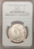 Bust Half Dollars, 1807 50C Capped Bust, Small Stars XF45 NGC. O-113a, R.3....