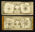 Military Payment Certificates:Series 701, Pacific Atomic Tests Notes circa 1946.. ... (Total: 2 notes)