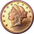 Proof Liberty Double Eagles, 1887 $20 PR64 Deep Cameo PCGS....