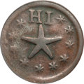 Coins of Hawaii, 1871 Wailuku Plantation Token, 12 1/2 Cents, Narrow Starfish VF30PCGS. Medcalf 2TE-2....