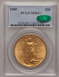 Saint-Gaudens Double Eagles, 1909 $20 MS62+ PCGS. CAC. PCGS Population (552/870). NGC Census:(435/225). Mintage: 161,282. Numismedia Wsl. Price for pro...