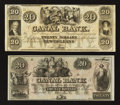 Obsoletes By State:Louisiana, New Orleans, LA- Canal Bank $20 Two Examples. ... (Total: 2 notes)