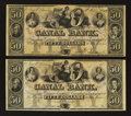Obsoletes By State:Louisiana, New Orleans, LA- Canal Bank $50 Two Examples . ... (Total: 2 notes)