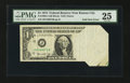 Error Notes:Foldovers, Fr. 1908-J $1 1974 Federal Reserve Note. PMG Very Fine 25.. ...