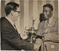 Baseball Collectibles:Photos, Jackie Robinson Signed Photograph....