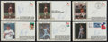Baseball Collectibles:Others, Nolan Ryan Signed First Day Covers Lot of 6....