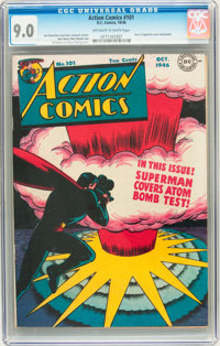 Action Comics #101 (DC, 1946) CGC VF/NM 9.0 Off-white to white pages