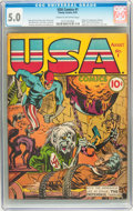 Golden Age (1938-1955):Superhero, USA Comics #1 (Timely, 1941) CGC VG/FN 5.0 Cream to off-white pages....