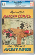 Golden Age (1938-1955):Cartoon Character, March of Comics #60 Mickey Mouse (K. K. Publications, Inc., 1950) CGC NM+ 9.6 Off-white to white pages....