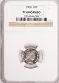 Proof Barber Dimes, 1908 10C PR64 Cameo NGC....