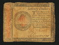 Colonial Notes:Continental Congress Issues, Continental Currency January 14, 1779 $70 Fine-Very Fine.. ...