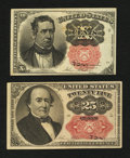 Fractional Currency:Fifth Issue, Fr. 1265 10¢ and 1309 25¢ Fifth Issue Notes Extremely Fine.. ...(Total: 2 notes)