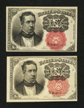 Fractional Currency:Fifth Issue, Fr. 1265 and 1266 10¢ Fifth Issue Notes Choice New.. ... (Total: 2notes)