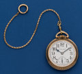 Timepieces:Pocket (post 1900), Hamilton Choice 21 Jewel, 992 Pocket Watch With Chain . ...