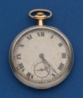 Timepieces:Pocket (post 1900), C. H. Meylan 44 mm 18k Gold & Platinum, 17 Jewel. ...