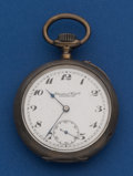 Timepieces:Pocket (post 1900), International Watch Co. 50 mm, Silver Open Face Pocket Watch, Interesting Movement. ...