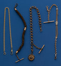 Timepieces:Watch Chains & Fobs, Lot of Four Watch Chains. ... (Total: 4 Items)