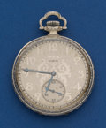 Timepieces:Pocket (post 1900), Elgin 15 Jewel, 14k White Gold 12 Size Pocket Watch. ...