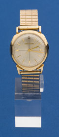 Timepieces:Wristwatch, Bulova Alpha 14k Gold 214 Accutron Wristwatch. ...