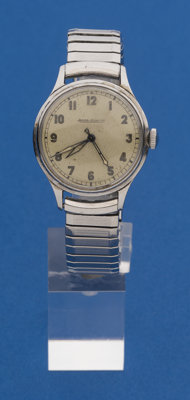 Jaeger-LeCoultre Steel Military Wristwatch