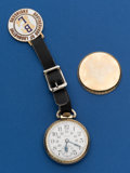 Timepieces:Pocket (post 1900), Elgin 21 Jewel Father Time With Fob. ...