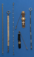 Timepieces:Watch Chains & Fobs, Lot of Six Watch Chains. ... (Total: 6 Items)