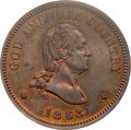 Patterns, 1863 2C Two Cents, Judd-305, Pollock-370, R.4, PR65 Brown PCGS.CAC....