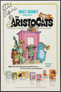 "Movie Posters:Animated, The Aristocats Lot (Buena Vista, 1970). One Sheets (3) (27"" X 41"").Animated.. ... (Total: 3 Items)"