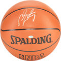 """Basketball Collectibles:Balls, Carmelo Anthony Signed """"Spalding"""" Leather Basketball...."""