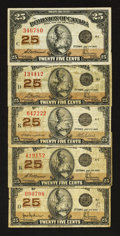 Canadian Currency: , 1923 Shinplasters.. ... (Total: 5 notes)