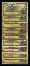 Canadian Currency: , 1900 Shinplasters.. ... (Total: 9 notes)