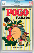 Golden Age (1938-1955):Funny Animal, Dell Giant Comics Pogo Parade #1 (Dell, 1953) CGC VF 8.0 Off-whiteto white pages....