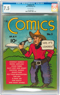 Platinum Age (1897-1937):Miscellaneous, The Comics #3 (Dell, 1937) CGC VF- 7.5 Off-white pages....
