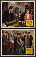 "Movie Posters:Mystery, Murder Over New York (20th Century Fox, 1940). Lobby Cards (2) (11""X 14""). Mystery.. ... (Total: 2 Items)"