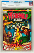 Bronze Age (1970-1979):Horror, Werewolf by Night #8 (Marvel, 1973) CGC NM+ 9.6 Off-white to whitepages....