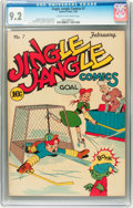 Golden Age (1938-1955):Humor, Jingle Jangle Comics #7 (Eastern Color, 1944) CGC NM- 9.2 Cream to off-white pages....