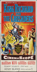 "Movie Posters:Adventure, King Richard and the Crusaders (Warner Brothers, 1954). Three Sheet(41"" X 81""). Adventure.. ..."